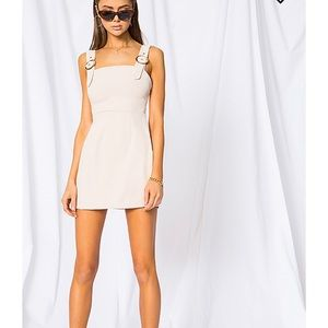 superdown beige mini dress
